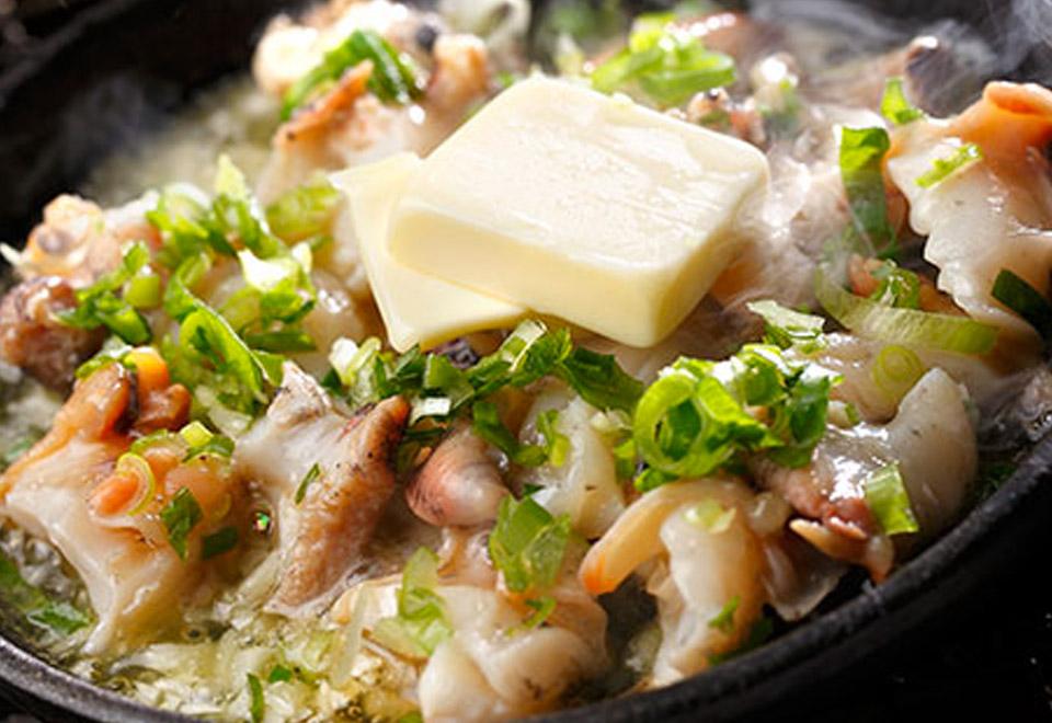 広田つぶのガーリックバター焼き