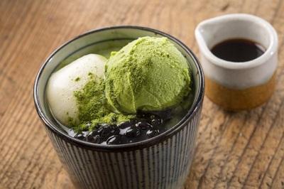 煎茶アイスあんみつ