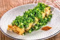 穴子の天ぷら葱まみれ